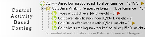 Activity Based Costing KPI KPI - Balanced Scorecard metrics template example