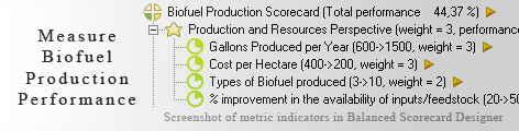Biofuel Production measuring KPI - Balanced Scorecard metrics template example