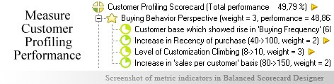 Customer Profiling scorecard KPI - Balanced Scorecard metrics template example
