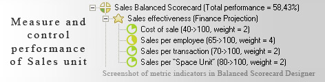 Measure sales performance KPI - Balanced Scorecard metrics template example