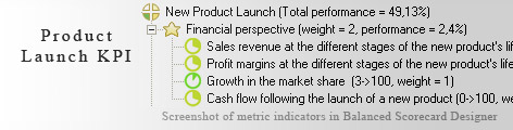 Product Launch measurement KPI - Balanced Scorecard metrics template example